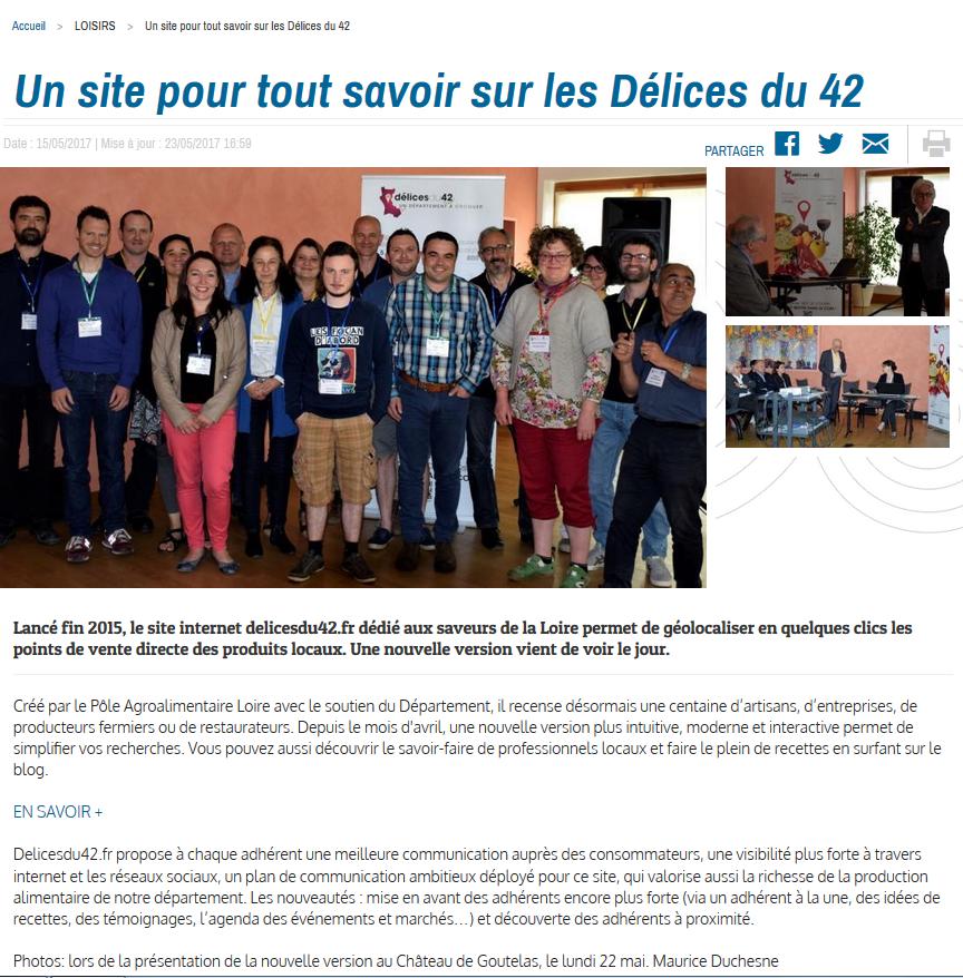 Delicesdu42 Site Pour Tout Savoir Sur Les D Lices Du 42 Zoom D 39 Ici 23 06 2017 D Lices Du 42