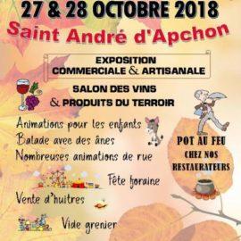 Foire d'Automne Salon des Vins Foire de St André D'Apchon